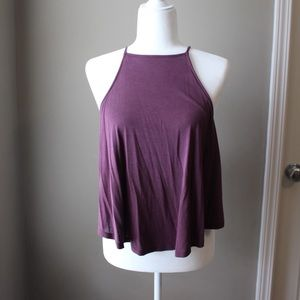 URBAN OUTFITTERS    Purple High-Neck Tank Top